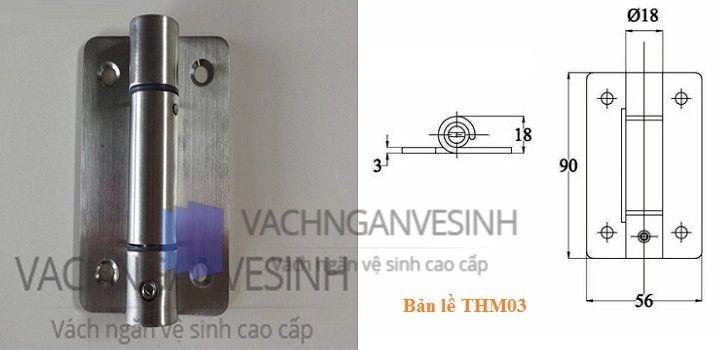 Bản lề vách ngăn vệ sinh THM03