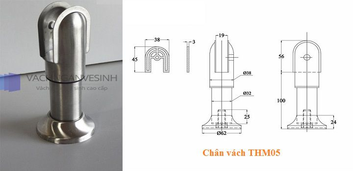 Chân vách ngăn vệ sinh THM05
