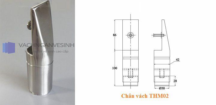 Chân vách ngăn vệ sinh THM02