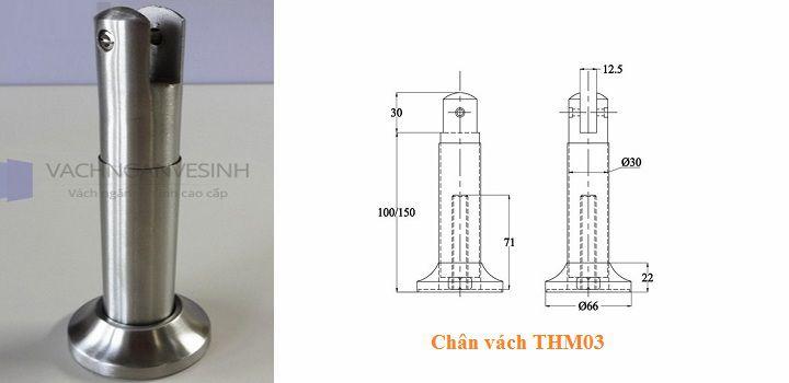 Chân vách ngăn vệ sinh THM03