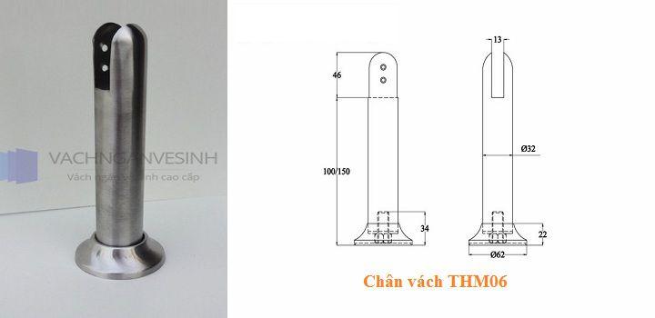 Chân vách ngăn vệ sinh THM06