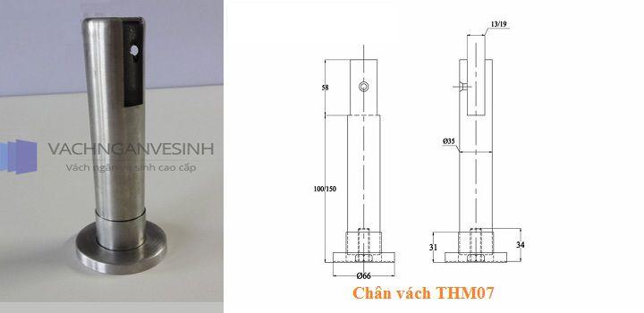 Chân vách ngăn vệ sinh THM07