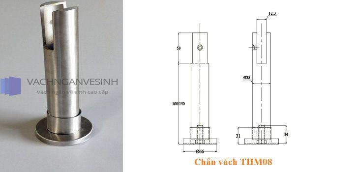 Chân vách ngăn vệ sinh THM08