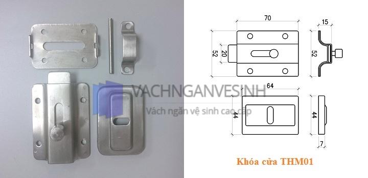 Khóa cửa vách ngăn vệ sinh THM01