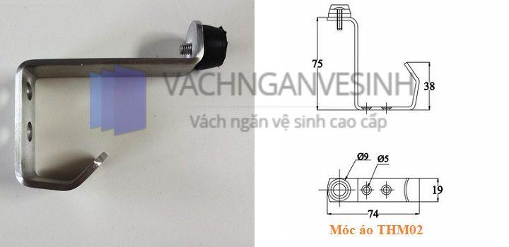 Móc áo vách ngăn vệ sinh THM02